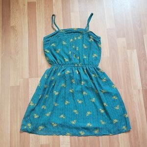 Mossimo supply co blue mini yellow flower dress